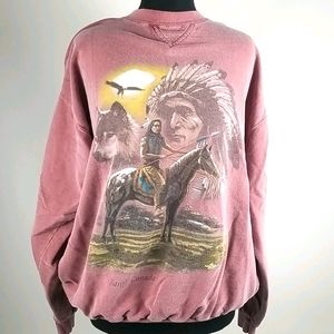 Vintage Banff Canada Native Sweatshirt Size XL